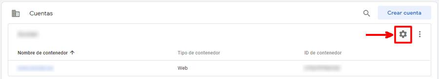 Configuración cuenta Google Tag Manager