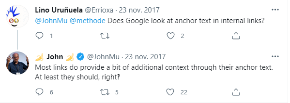John Muller y el anchor text