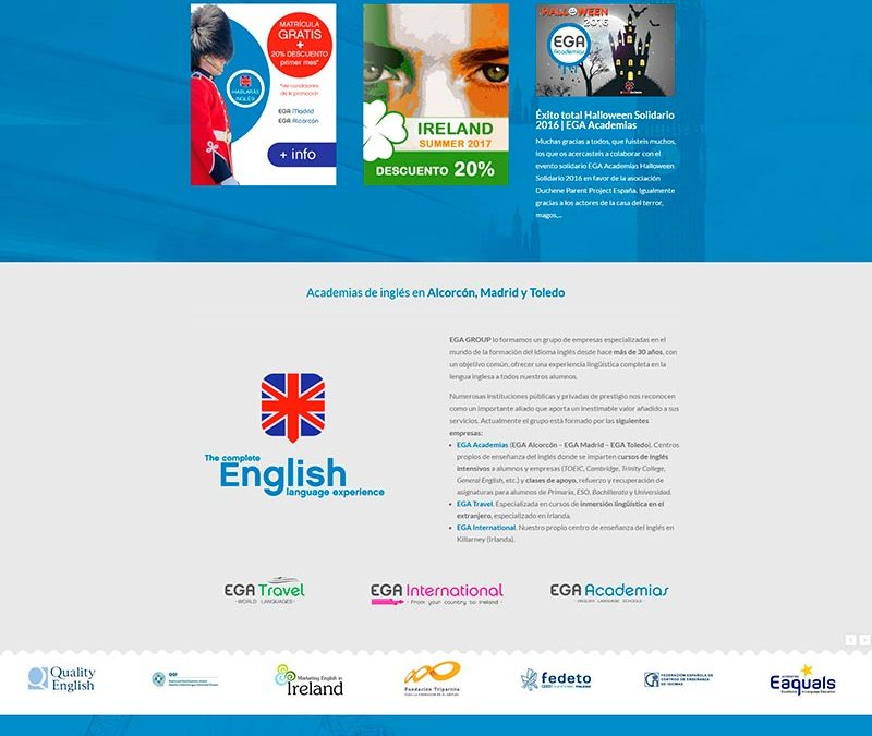 Diseño Web: Academias EGA