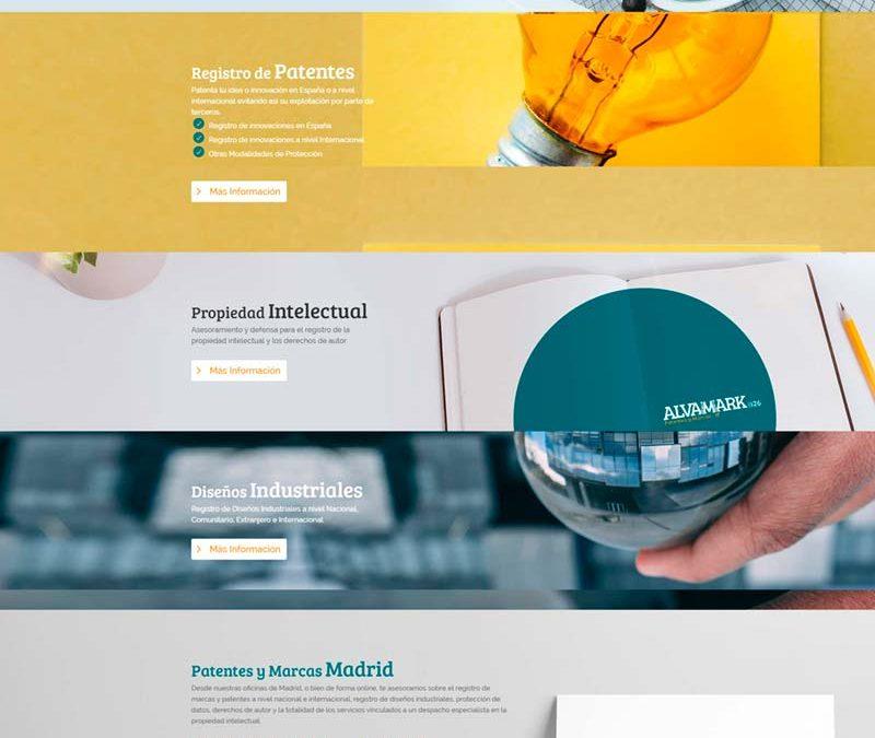Diseño Web: Alvamark Patentes y Marcas