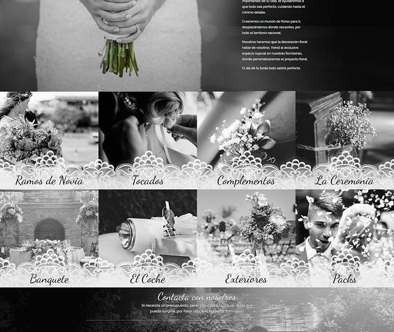 Diseño Web: Arte Floral Novias