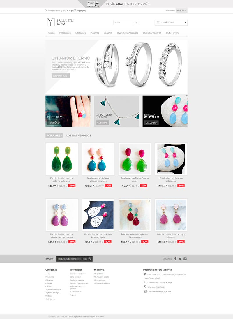 Diseño Web: Brillantes y Joyas