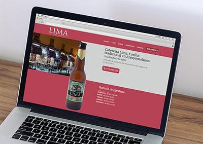 Diseño Web: Cafetería LIMA