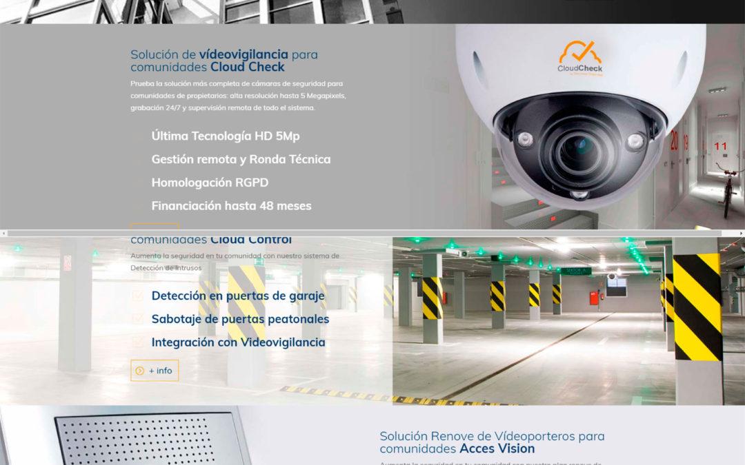 Diseño Web: Comunidades CloudCheck