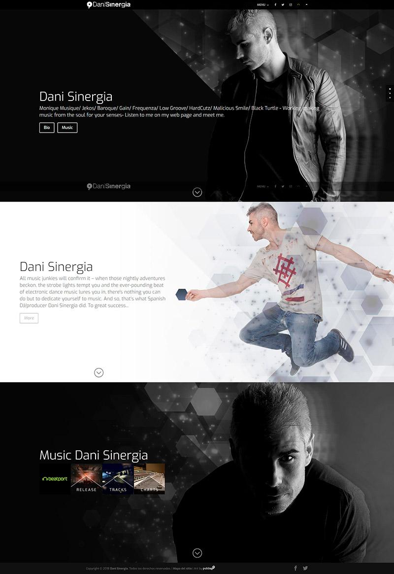 Web con gestor de contenidos Dani Sinergia