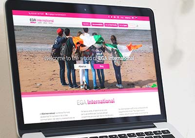Diseño Web: EGA International