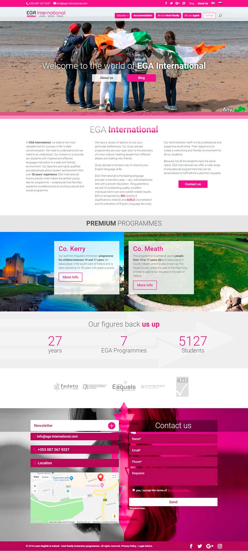 Diseño Web: EGA International