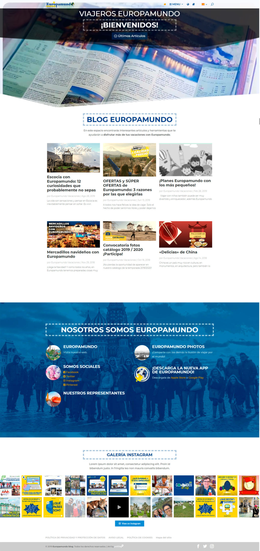 Diseño Web: Europamundo Blog