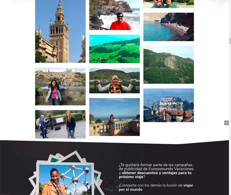 Diseño Web: Europamundo Photos