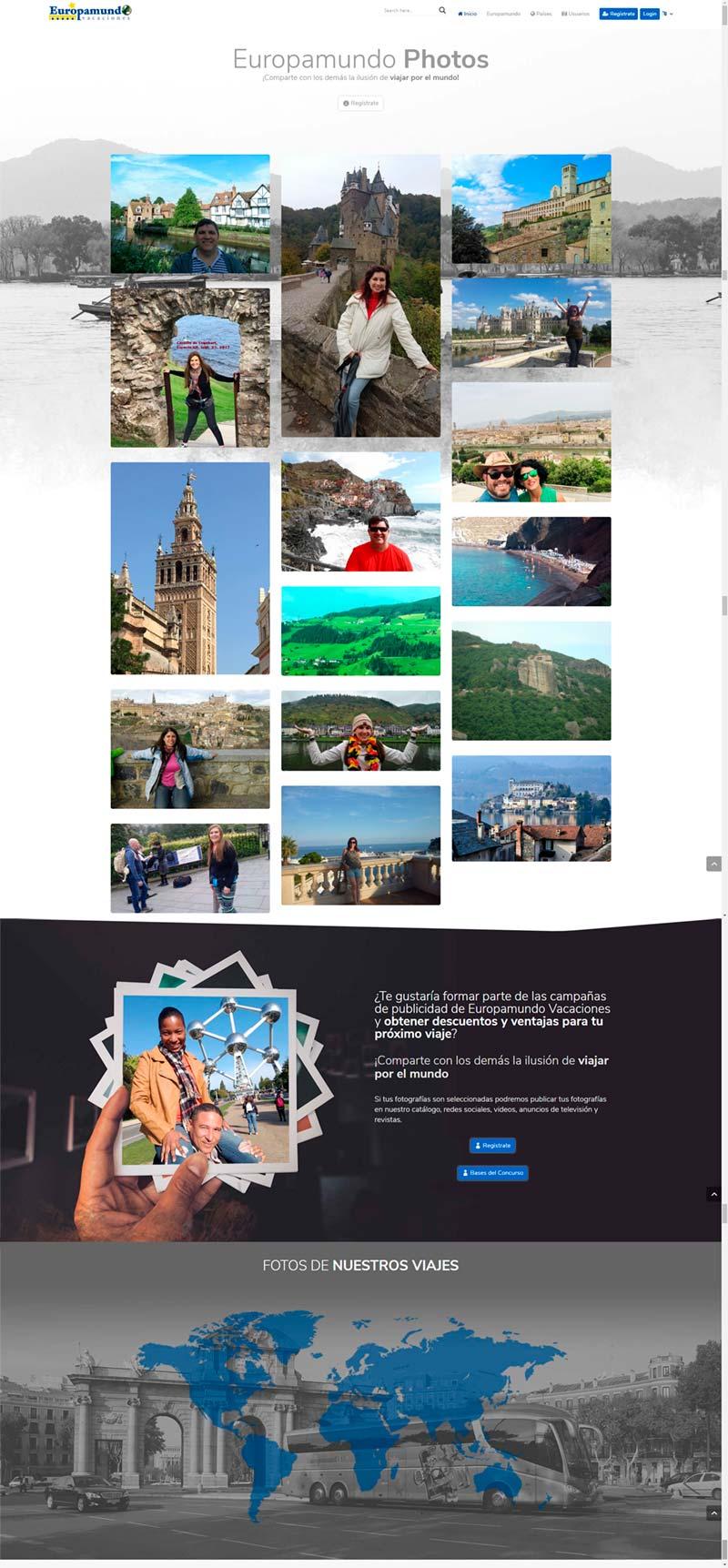 Diseño Web: Europamundo Photos