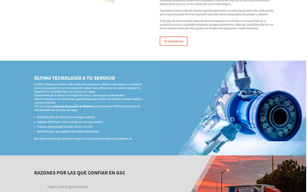 Diseño Web: GSC Servicios