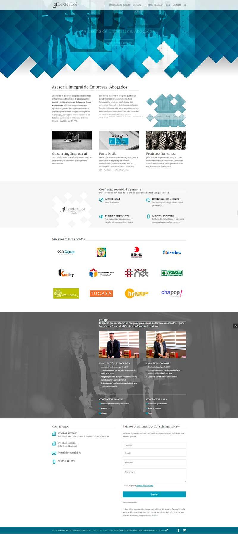 Web con gestor de contenidos Lexterloi