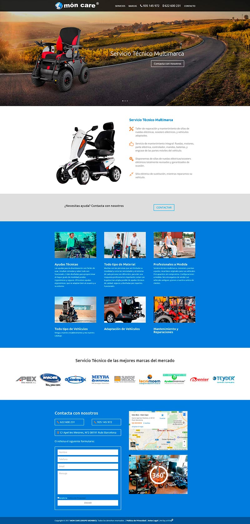 Diseño Web: Moncare