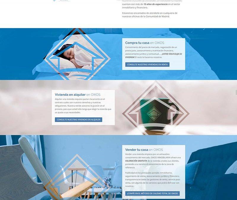 Diseño Web: Inmobiliaria OIKOS
