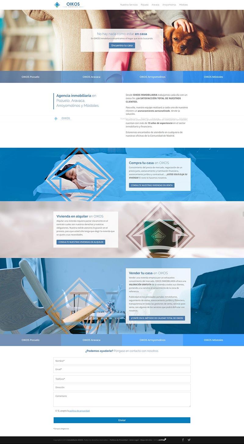 Web con gestor de contenidos OIKOS Inmobiliaria