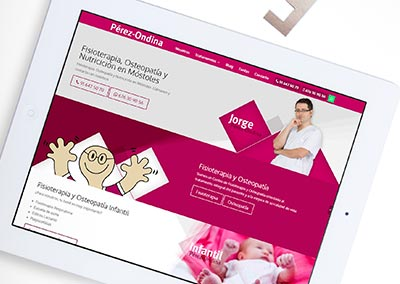 Diseño Web: Fisioterapia Pérez Ondina