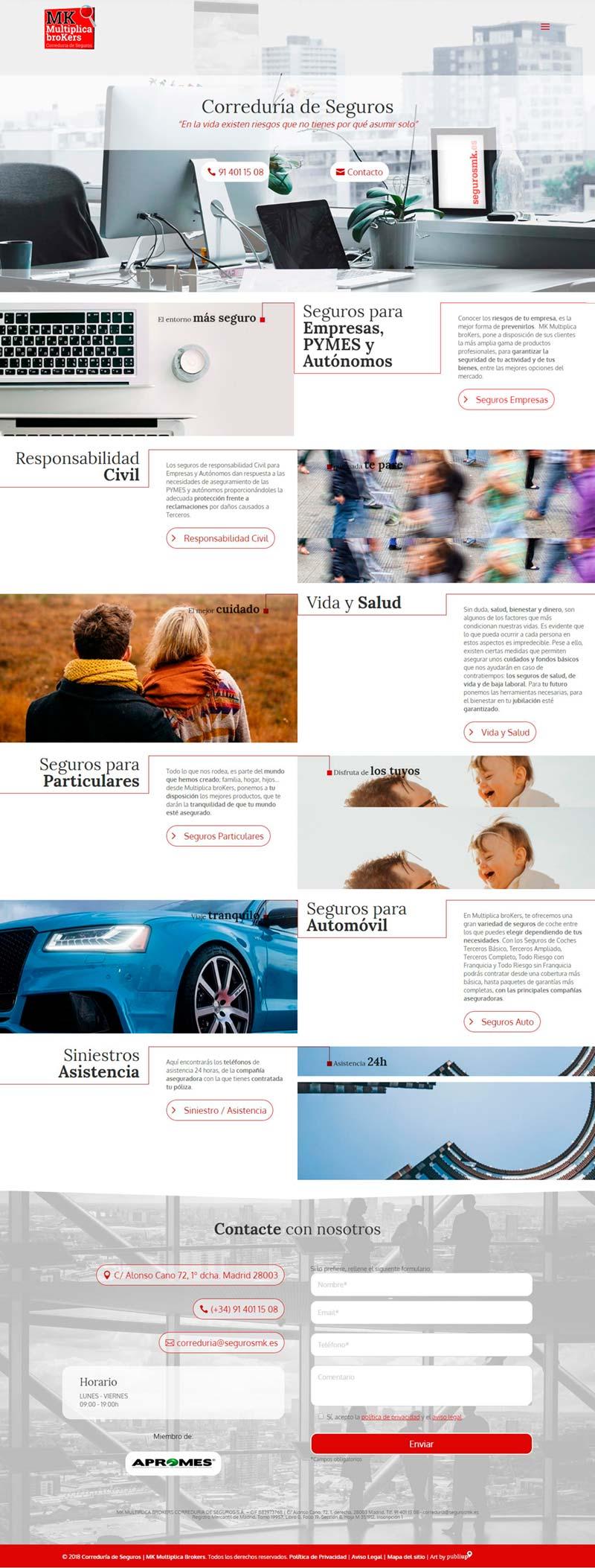 Diseño Web: Seguros MK