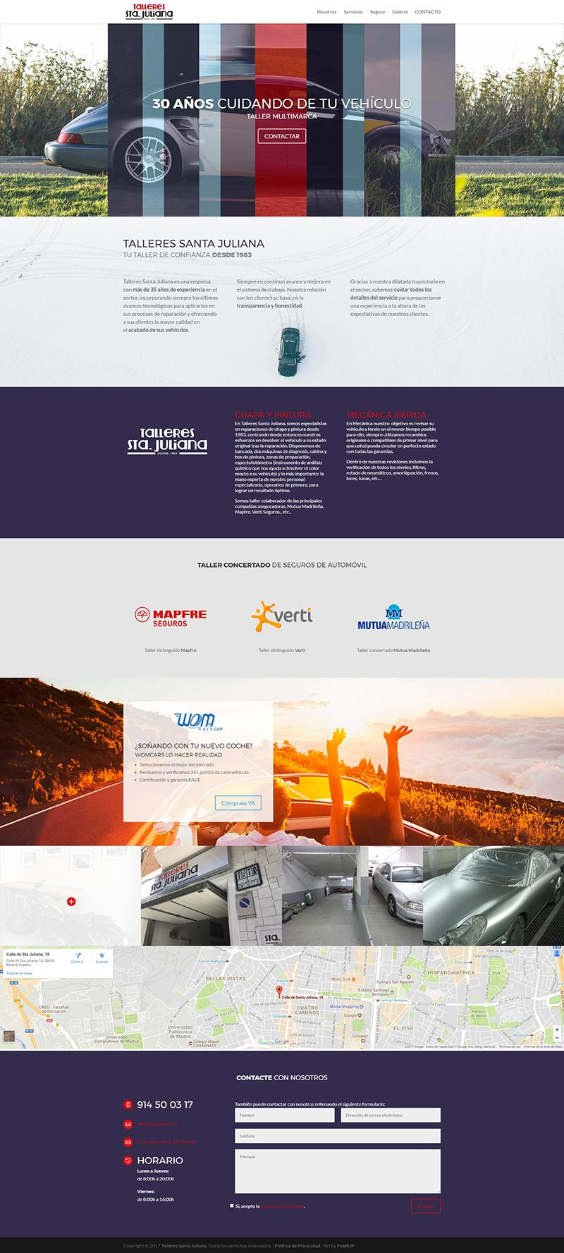 Diseño Web: Talleres Santa Juliana