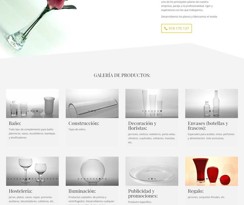 Diseño Web: Vidrocen